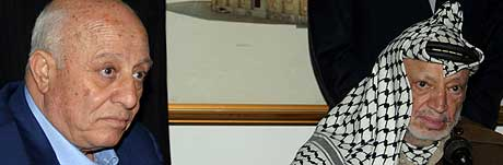FORTSETTER: Ahmed Qurie har gitt beskjed om at han fortsetter som statsminister. I dag møtte han palestinernes president Yasir Arafat. (Foto: Loay Abu Haykel/Reuters)