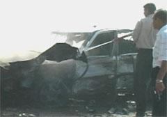 Eksplosjonen skapte store ødeleggelser. (Foto: EBU/NRK)
