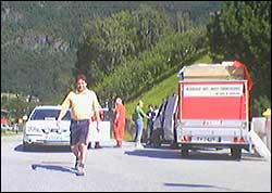 Mange vart evakuerte i går. (MMS-foto: Øyvind Slinde)