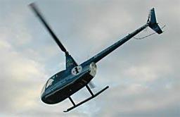 Det var dette helikopteret frå Helikopterdrift as som måtte lande i Aure. Foto: Helikopterdrift as.