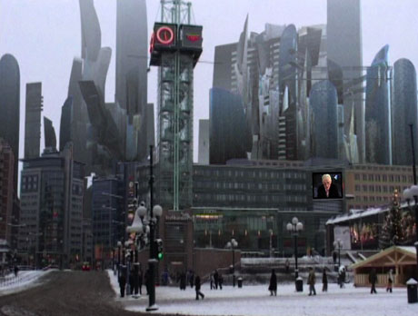 Slik har du aldri sett Oslo før - som fremtidsby. Foto: Filmweb.