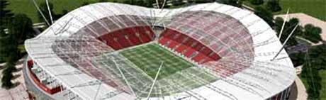 Silk skal Liverpools nye stadion se ut. (Foto: Liverpools hjemmeside)