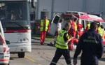 En personbil kolliderte med en rutebuss. (Foto: Petter Vidar Vågsvær)