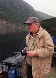 Jan-Ove Sundberg kom til Seljord i dag for å fortsette jakten på Selma. Arkivfoto: Knut Fjeldstad, NTB Pluss