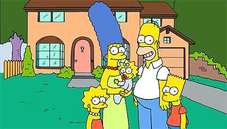 """""""The Simpsons"""" er ikke ukjent med kjendiser. Foto: Scanpix."""