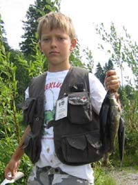 Mattis Rundberget fra Flisa hadde fiskelykke.