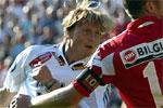 Frode Johnsen inn 1-0 til RBK mot Lillestrøm. Foto: Gorm Kallestad/SCANPIX.