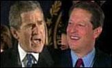 Gore haler innpå Bush