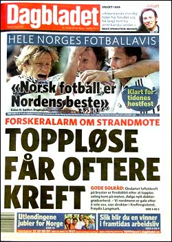 Dagbladet mandag 9. august