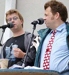Are og Odin, nå også som platina-selgende popstjerner, og Norsktopp-vinnere for andre gang. (Foto: Vilde Batzer)