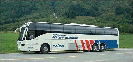 Slik tek dei nye luksusbussane til Firda Billag seg ut. (Foto: Firda Billag)