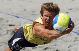 Bjørn Maaseide er mannen bak sandvolleyballturneringen i Stavanger. Foto: Scanpix