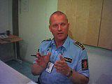 Stasjonsjef ved Sentrum politistasjon, Ove Sem.