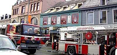 Brannutrykning i Olav Tryggvasonsgate