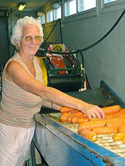 - Æ spise gulrot hver eneste dag, erklærer Anne Marie Solheim. Foto: Ann Jones, NRK