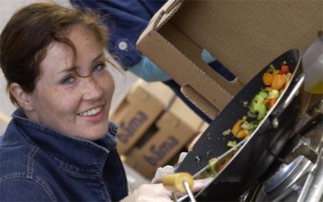 Edle Skarland wokker grønnsaker