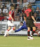 Thomas Myhre kunne ikke ta belgiernes første mål. (Foto: Tor Richardsen / SCANPIX)