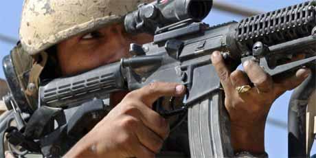 Amerikansk soldat i Najaf (foto: Reuters/Scanpix)