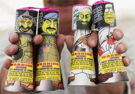 Et litt makabert utslag av amerikanernes økte interesse for sikkerhetspolitikk er kanskje disse produktene - morosaker solgt under tittelen Eksploderende terroristhoder (Scanpix/AP)