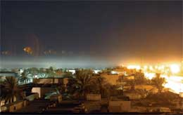 Sentrum i den hellige sjiabyen Najaf ble i kveld utsatt for kraftige angrep (Scanpix/AFP)