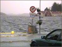 Fra Farsund under flommen og uværet.