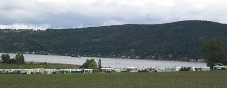 Homansberget camping i Svelvik. Foto NRK.