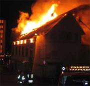 Diskoteket Verftet og hele gården brant i 2003.