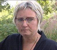 Rektor Lise Holsen Skei fikk en trist start på dagen. Foto: Thomas Ystrøm, NRK
