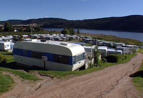 Homannsberget camping i Svelvik. Foto: Knut Brendhagen, NRK.