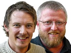 Arild Opheim og Hans Petter Jacobsen. Foto: NRK
