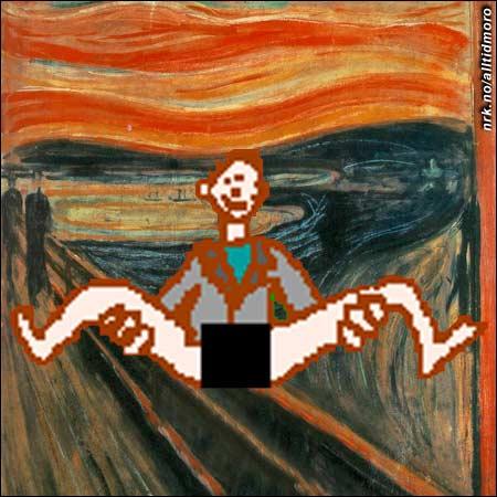 """- Synd at """"Skrik"""" ble stjålet. Heldigvis har vi fortsatt maleriet """"Skrukk"""", uttaler direktøren for Munch-museet."""