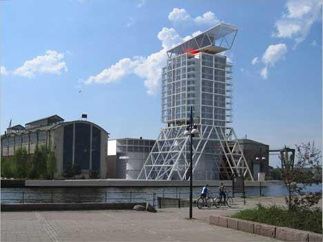 Øverst i det planlagte hotellet skal det være en skybar med havutsikt. Arkitektene bak tegningene har tidligere tegnet