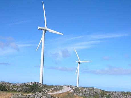 Smøla er i ferd med å bygge en av verdens største vindmølleparker. Foto: Ann Jones, NRK