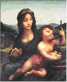 """Over 200 millioner kroner er lovet i dusør for Leonardo da Vincis """"Madonna of the Yarnwinder""""."""