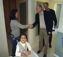 Ordfører Erik Haatvedt besøkte i forrige uke familien Ahmad.