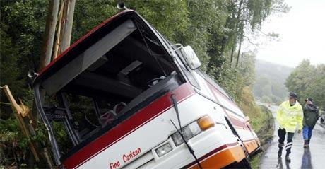 En kvinne omkom i ulykken. (Foto: Terje Bendiksby/Scanpix)