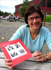 Styreleder Evy Sisilie Bergum gler seg over godt besøk og nye brukera av Bjørnsonfestivalen. Foto: Gunnar Sandvik
