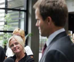 MINISTER Thorild Widvey røper ikke hva hun synes om utnevnelsene (Foto: Alf Ove Hansen / SCANPIX )