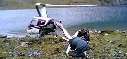 Helikopteret blei heva i går. (Foto: Alf-Jørgen Tyssing, NRK)