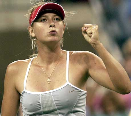 Maria Sharapova kunne til slutt juble. (Foto: Scanpix)
