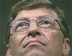 Microsoft og Bill Gates vil også være med i kampen om musikkmarkedet på nett. Foto: Scanpix.