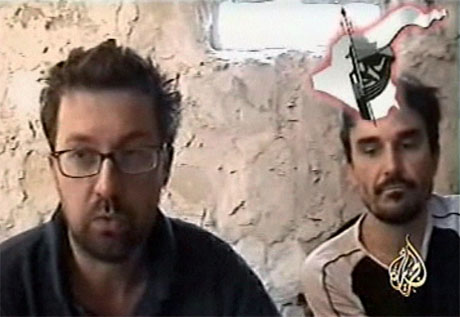 De franske journalistene Christian Chesnot og Georges Malbrunot kan snart være satt fri. (Foto: Al Jazeera/Reuters/Scanpix)