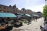 Fra markedet i Kristiansands gågate