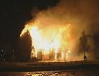 Frå brannen natt til 2.juledag 1998.