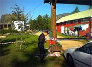 Løyne camping etter skyteepisoden i august i år.
