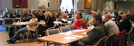 Medlemmene i Ålesund-regionens utviklingskontor var samlet for å diskutere en fremtidig storkommune. (Foto: Alf-Jørgen Tyssing)