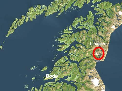 Her i området ved innsjøen Linajavri - øst for Kobbvatnet - er det registrert store mengder talk og kleberstein. Grafikk: NRK