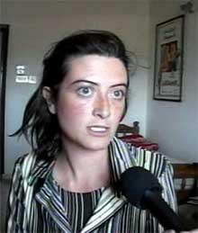 Simona Pari, en av to italienske kvinner som fortsatt er gisler i Irak.(Foto:Scanpix)
