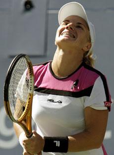 Svetlana Kuznetsova kunne til slutt vise det store smilet. (Foto: Scanpix)