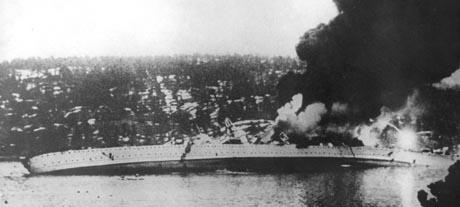Blücher ble senket i Drøbaksundet 9.april 1940. Foto: Scanpix